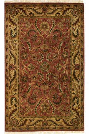 """chantilly Area Rug - 7'9"""" Round, Brick Red"""