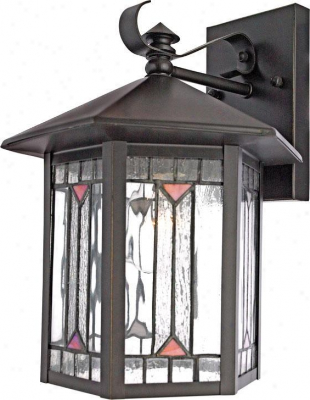 Chaparral Large Outdoor Wall Lantern - Large, Bronze