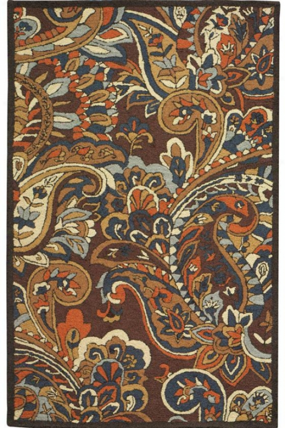 """""""charlemagne Ii Area Rug - 3'9""""""""x5'9"""""""", Brown"""""""