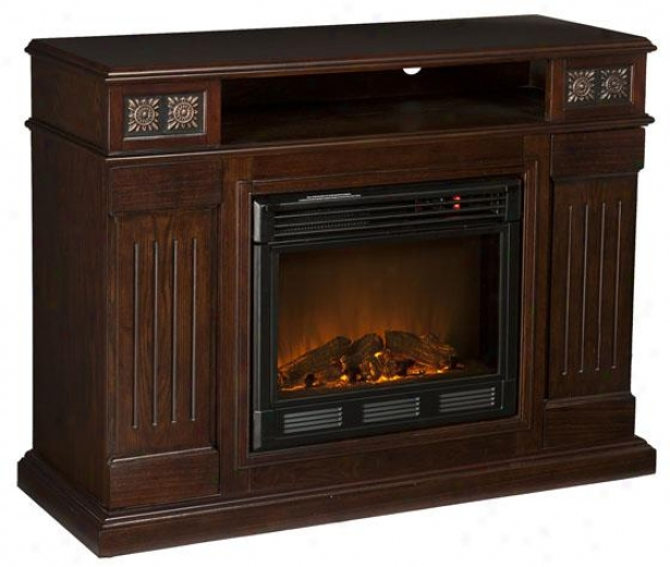"""""""charles Media Fireplace - 48""""""""wx36""""""""hx16""""""""d, Coffee Brown"""""""