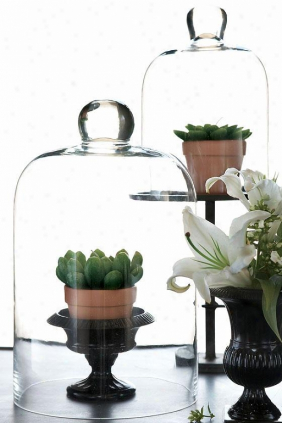 Chateau Cloches - Set Of 2 - Set Of 2, Clear