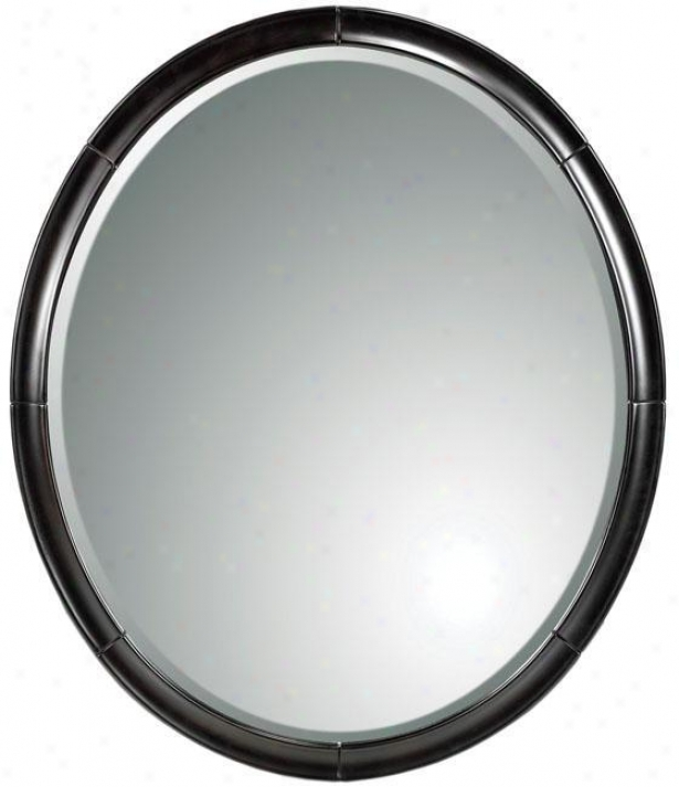 Chateau Mirror - Oval, Black