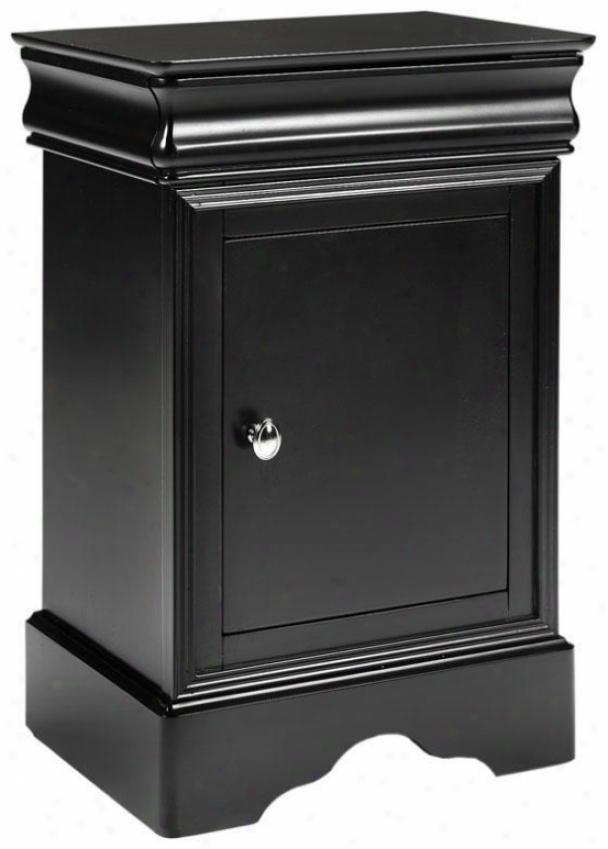 Chateau Nightstand - 1 Drawer/1 Door, Black