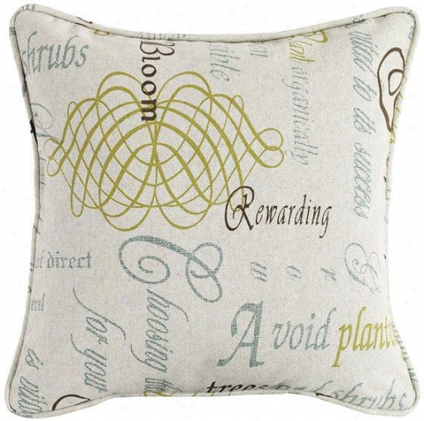 """chatsworth Citron Fiber-filled Pillow - Fiber-flld Pllw, 26"""" Square"""