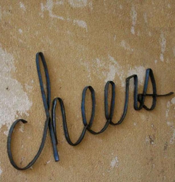 """cheers Wall Sculptute - 9.5""""hx28.25""""w, Bronze"""