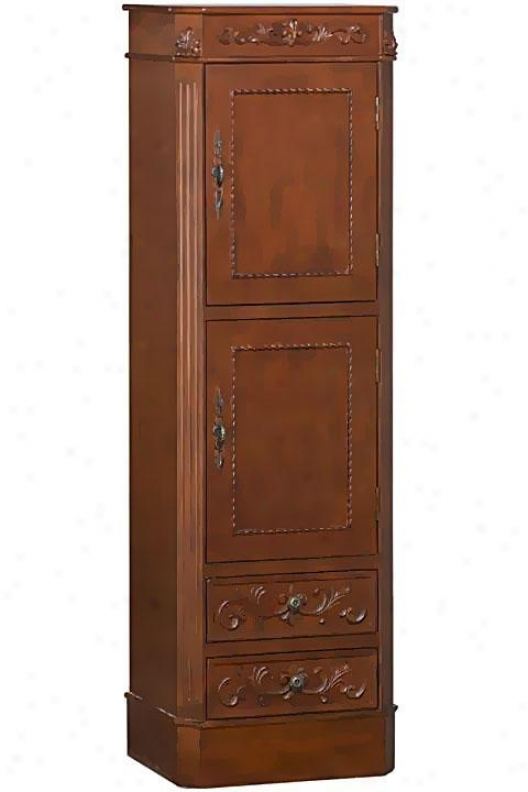 """chelsea 2-door Cloth of flax Storage Cabinet - 60""""hx1""9""wx14""""d, Red"""
