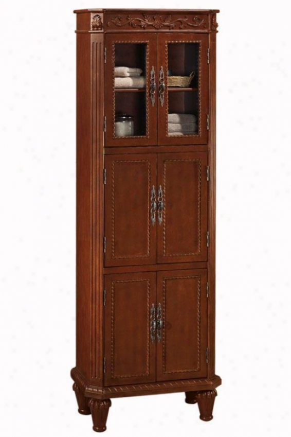 """chelsea 25""""w Linen Storage Cabinet - 6-door, Red"""