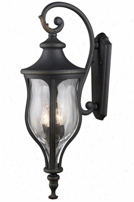 """chelsea 39""""h Outdoor Wall Mount - 4-light, Weathrd Chrcoal"""