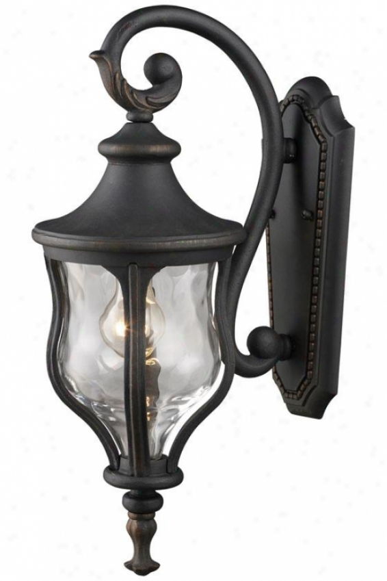 Chelsea Mini Outdoor Wall Mount - 1-light, Weathrd Chrcoal