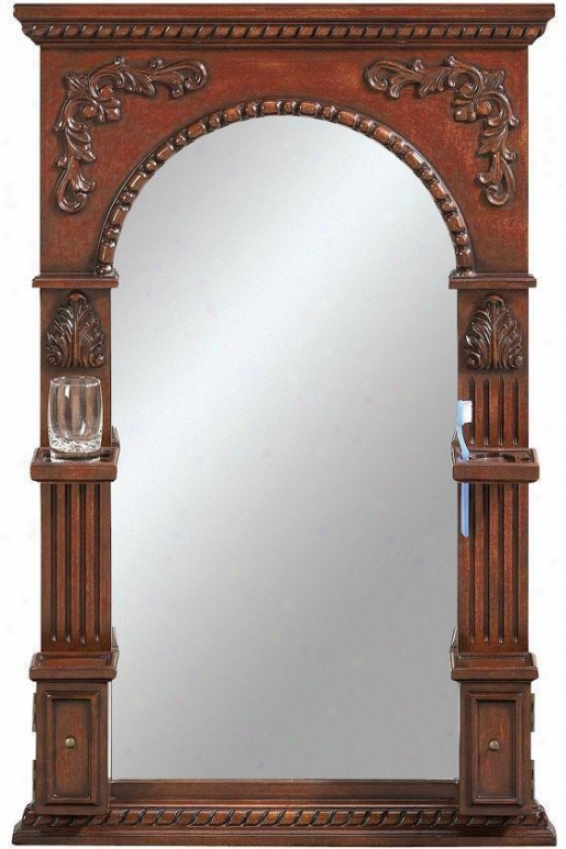 """chelsea Mirror With Storage - 41""""hx27""""w, Red"""
