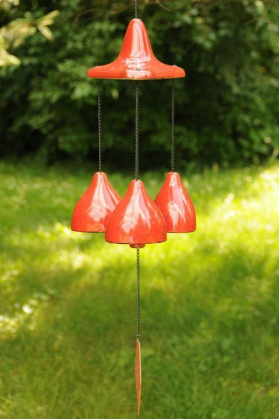"""cherry Hill Chime - 24""""hx6.5""""wx6.5d, Brick Red"""