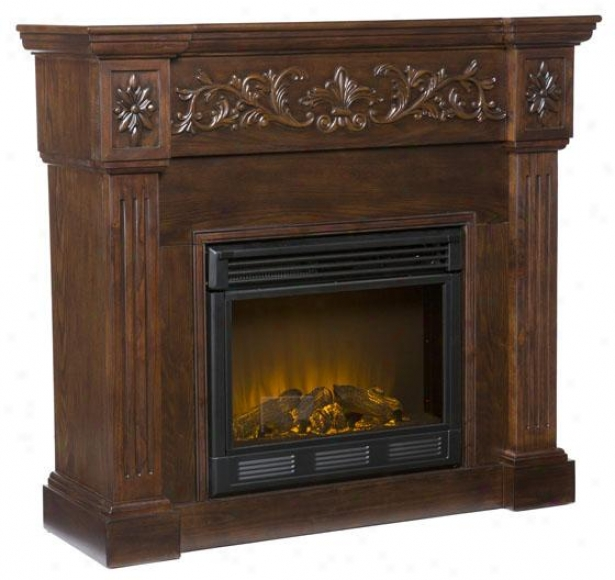 Chesney Fireplace - Electric Frplce, Coffee Brown