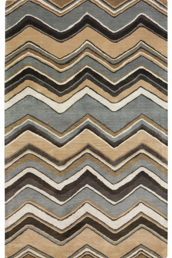"""chevron Area Rug - 7'6""""x9'6"""", Blue"""