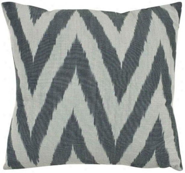 Chevron Pillow - 18hx18wx6d, Silver