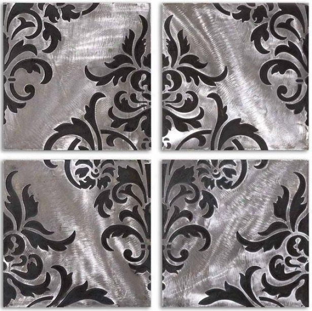 Chiavari Wall Art- Set Of 4 - Set Of 4, Black