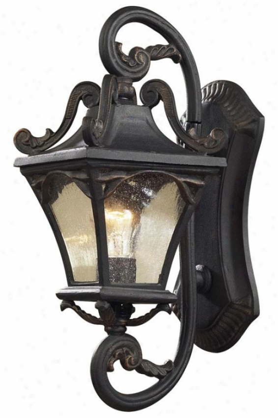 """chicago 19""h Exterior Sconce - 1-light/19""""h, Weathrd Chrcoal"""