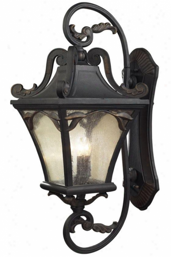 """chicago 41""""h Outdoor Sconce - 5-light, Weathrd Chrcoal"""
