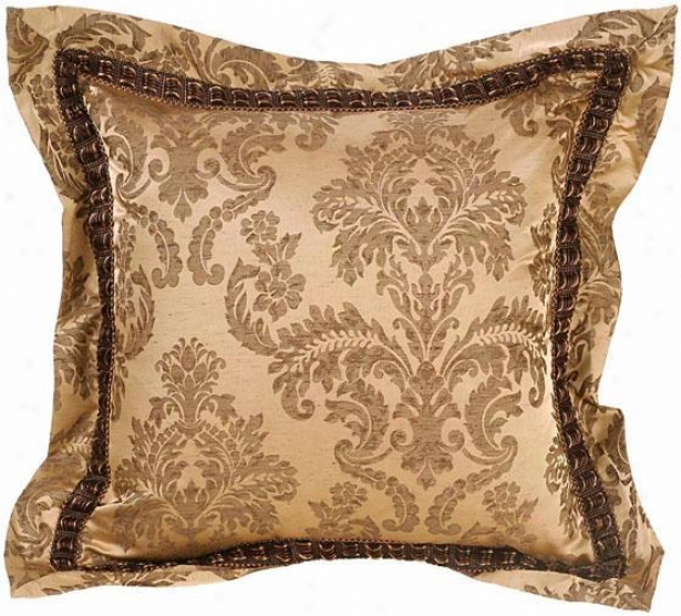 """""""chole Pillow - 18"""""""" Square, Brown"""