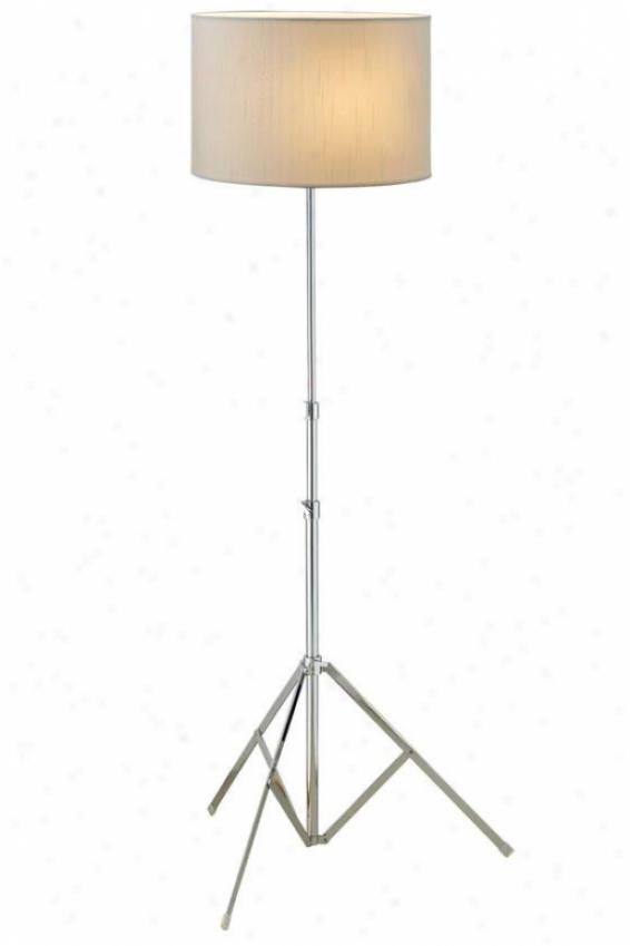 """chorus Floor Lamp - 55""""h, Silver Chrome"""