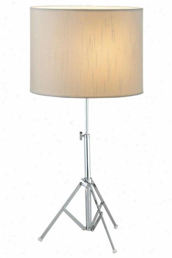"""""""chorus Table Lamp - 27.5""""""""h, Silver Chrome"""""""
