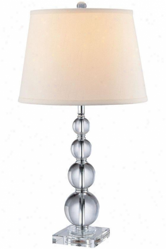 """christine Table Lamp - 27""""hx14""""d, Clear"""
