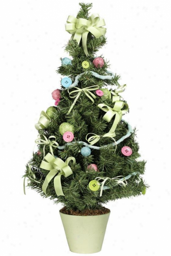 Christmas Craft Tree - Large, Pink/blue/green
