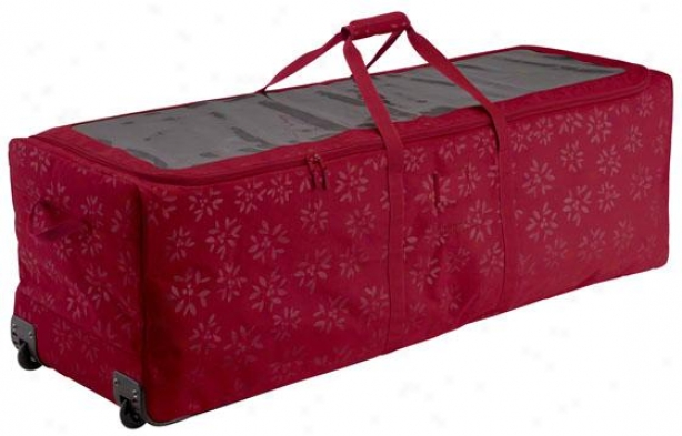 """christmas Tree Rolling Dufel - 17.5""""hx17.5""""w, Crimson Red"""