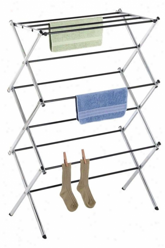 """chrome Drying Rack - 42""""hx30""""wx15""""d, Silvsr Chrome"""