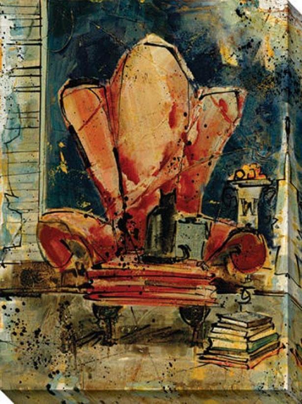 """chunkie's Chair Canvas Wall Art - 36""""hx48""""w, Black"""