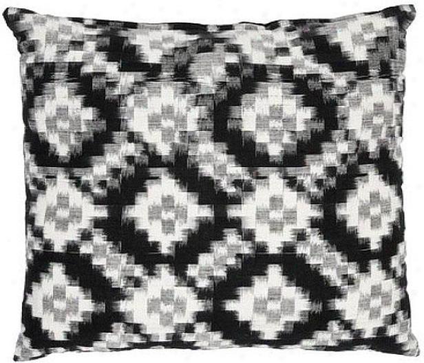 Cielo Essex Pillow - 18hx18wx6d, Black