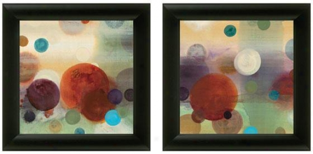 Circle Dreams Framed Wall Art - Set Of 2 - Set Of Two, Bright Colors