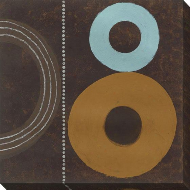 Circles On Canvas I Wall Art - I, Brown