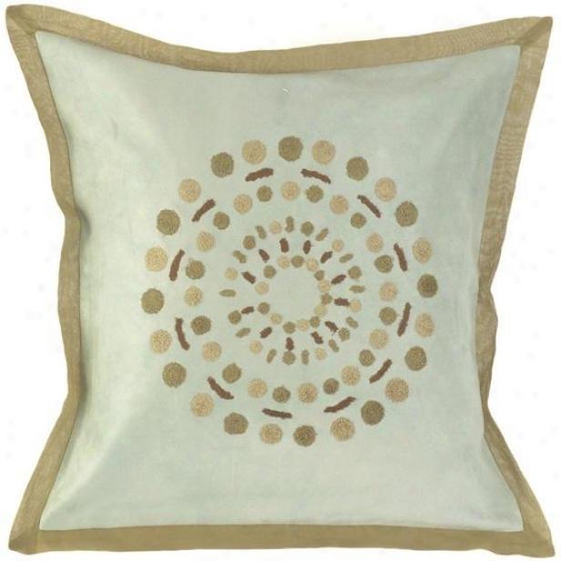 """""""circles Pillows - Set Of 2 - 18""""""""x18"""""""", Sky/khaki"""""""