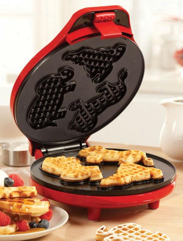 """""""circus Waffle Maker - 4.5""""""""hx9""""""""wx12""""""""d, Red"""""""