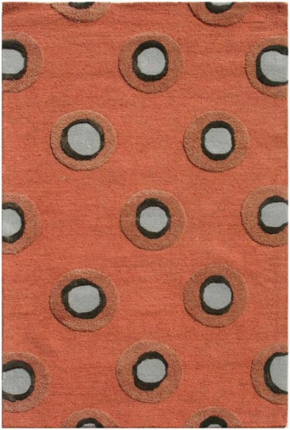 Cirque Ii Area Rug - 2'x3', Oranve Rust