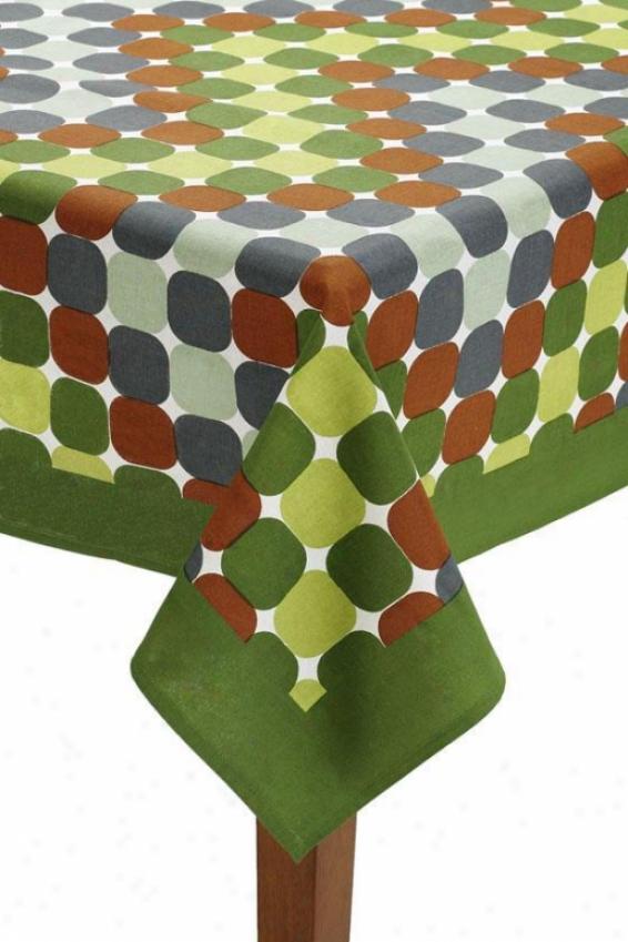 """""""cirque Tablecloth - Cirque, 70x90""""""""/green"""""""