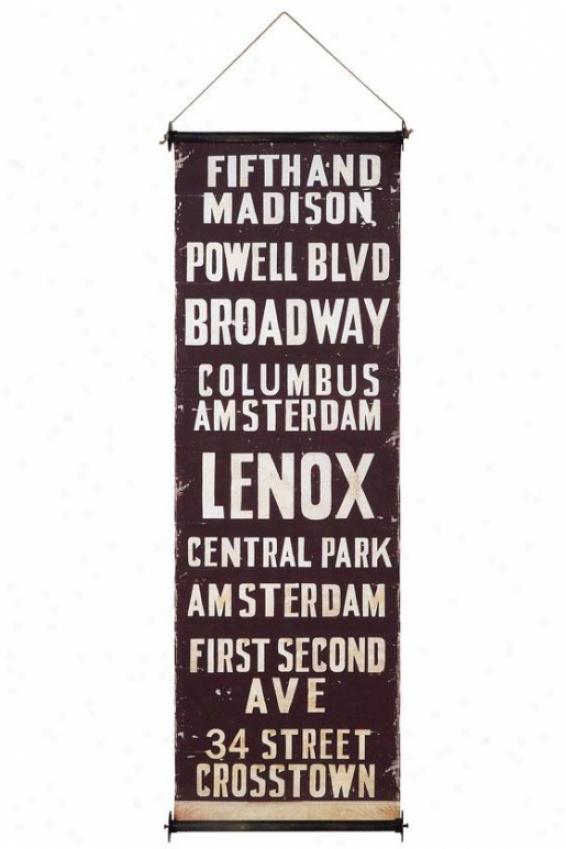 """city Wall Banner - 59""""hx19.75""""w, Fifth & Madison"""