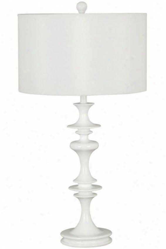 Claiborne Table Lamp - White Drum, White