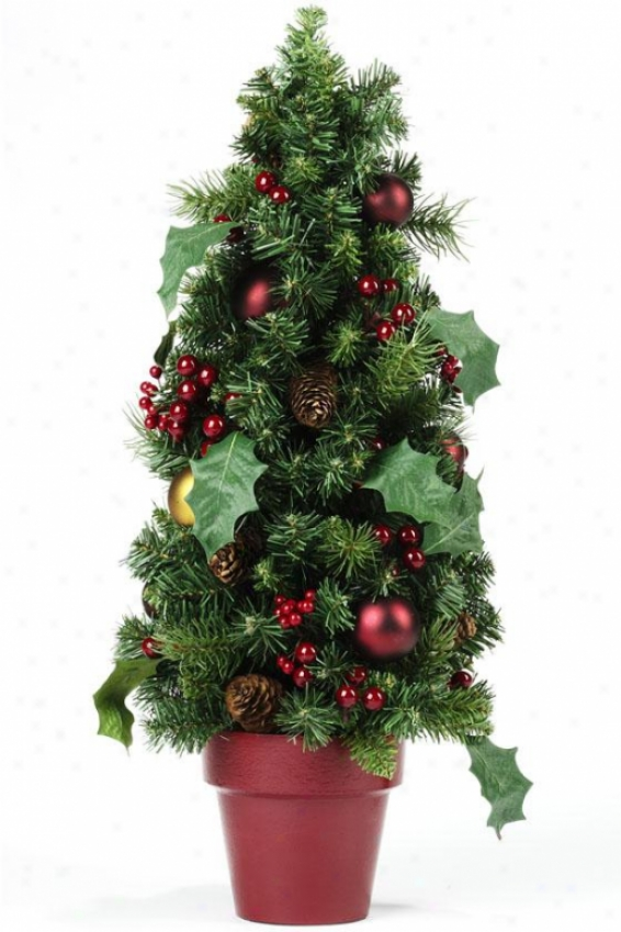 """""""classic Christmas 24""""""""h Topiary - 24hx11wx11d, Green"""""""
