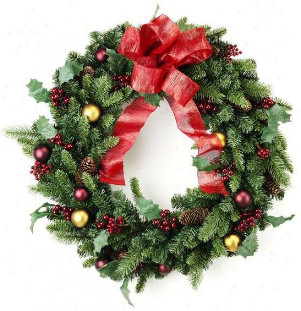"""classlc Christmas 30"""" Wreath - 30""""hx30""""wx8"""", Green"""