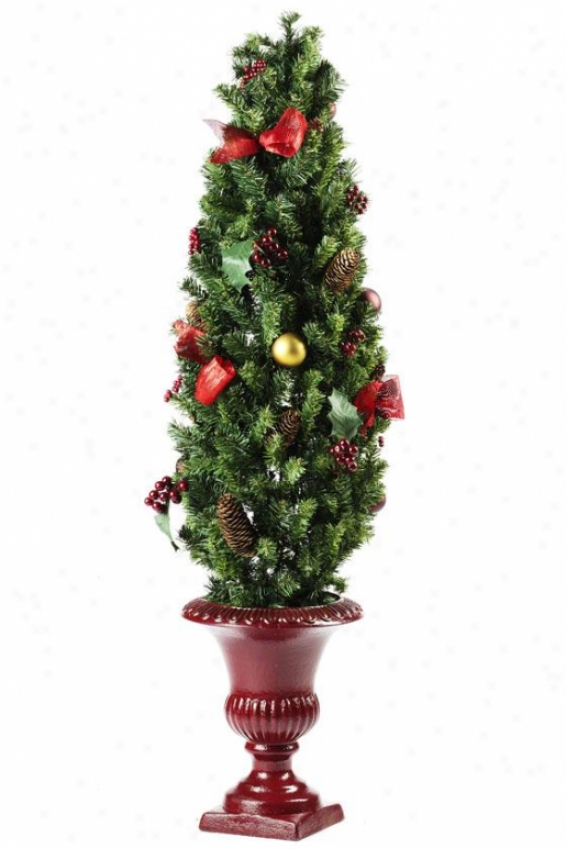 """""""classic Christmas 48""""""""h Topiary - 4ft Topiary Tre, Green"""""""