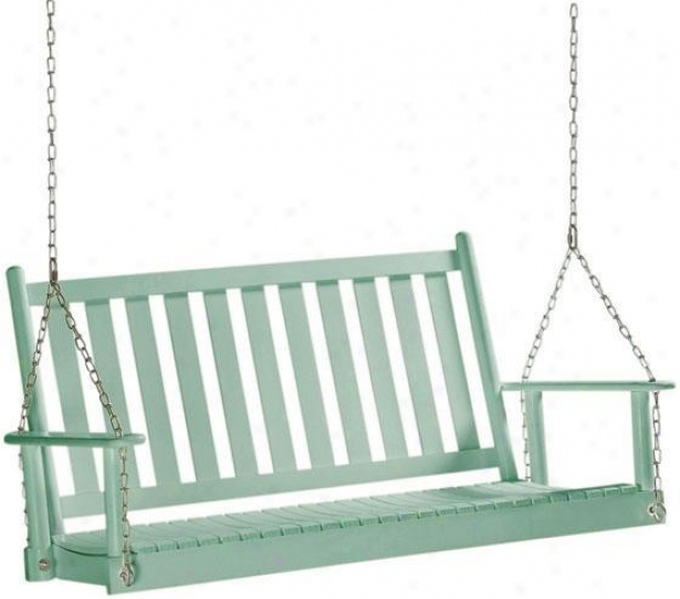 Classic Hanging Porch Swing - Slatted, Blue