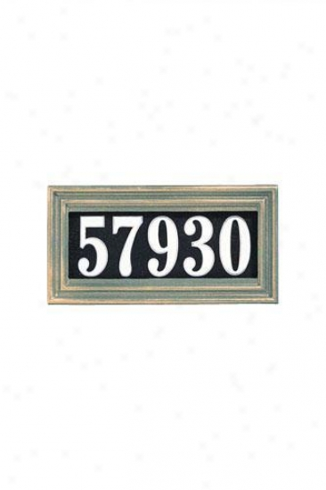 Classic One-line Illuminated Address Plaque - Classiv, Green
