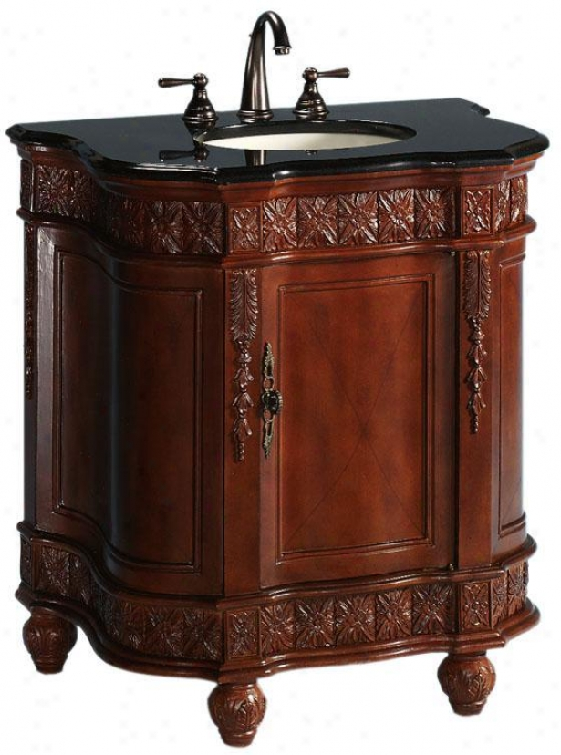 """classic Ensign Bathroom Vanity - Single 32""""w, Red"""