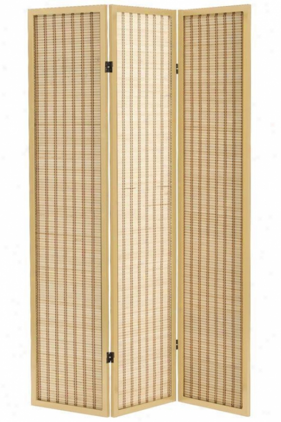 Clayton 3-panel Bamboo Room Divider - Th5ee-panel, Ivory