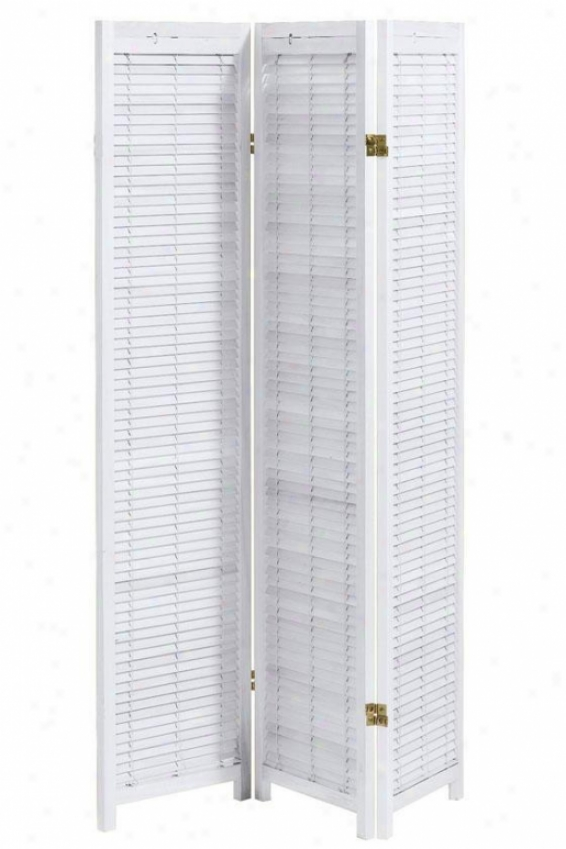 Clayotn 3-panel Shutter Room Divicer - Three-panel, White