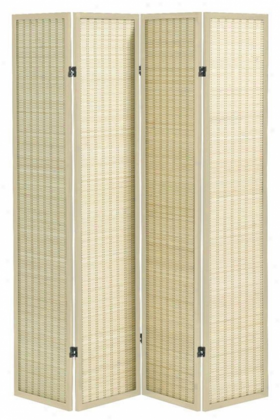 Clayton 4-panel Bamboo oRom Divider - Four-panel, Ivory