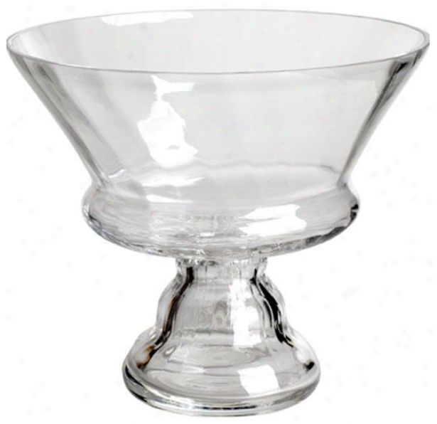 """clear Glass Bowl - 7""""x8"""", Perspicuous Glass"""
