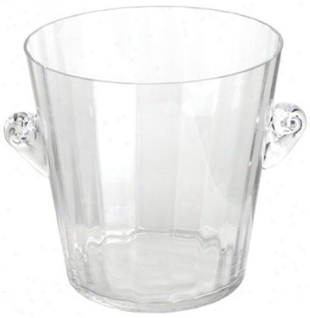 """clear Glass Ice Bucket - 8""""x8"""", Clear Glass"""