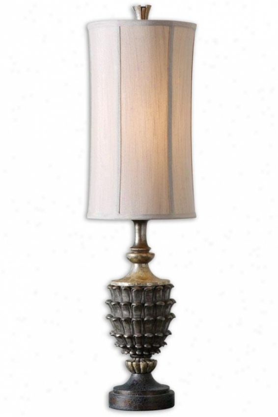 """clemente Buffet Lamp - 37""""h, Burnish Silver"""